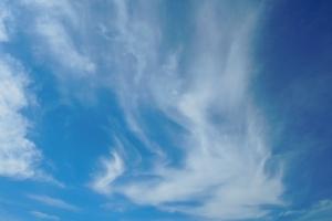 青空と鳳凰のような雲