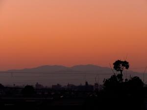 夜明けを迎えた今朝の金沢