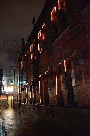 赤レンガ街の夜
