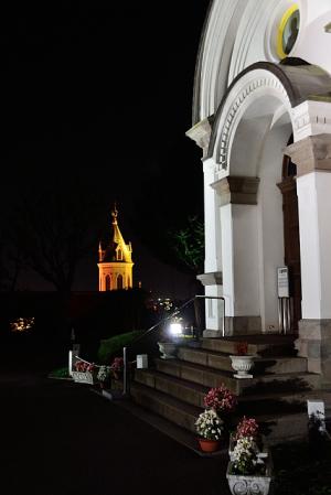 ハリストス正教会の夜景
