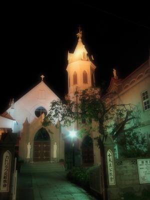 カトリック元町教会の夜景