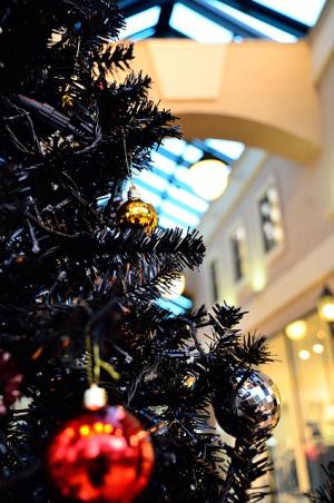 街角のクリスマスツリー