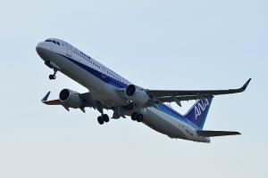 ANA A321ceo 小松空港に飛来