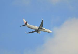 小松空港へアプローチ JAL B737-881